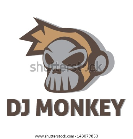 Monkey Head Illustration Vector - stock vector