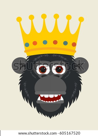 Monkey King Stock Vector Royalty Free 605167520