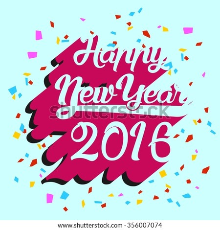 Monkey New Year 2016 Vector Template