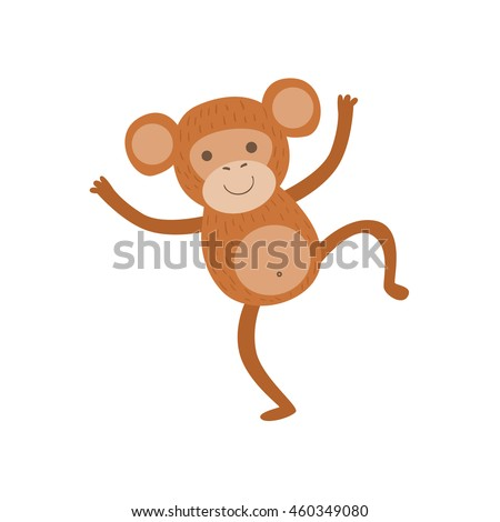Monkey Stylized Childish Drawing