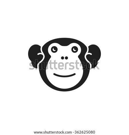 Monkey. Vector illustration. - stock vector