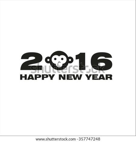 Monkey year - stock vector