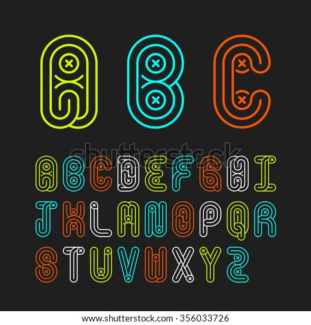 Mono lines style alphabetic fonts capital stock vector 356033726 mono lines style alphabetic fonts capital letter abcde thecheapjerseys Gallery