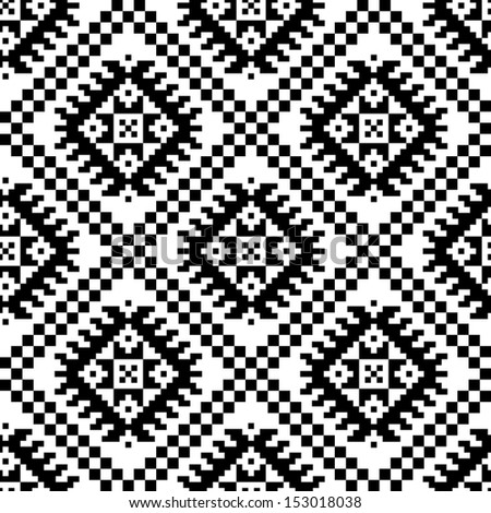 monochromatic ethnic seamless background. seamless textures in black and white colors. grayscale vector illustration.