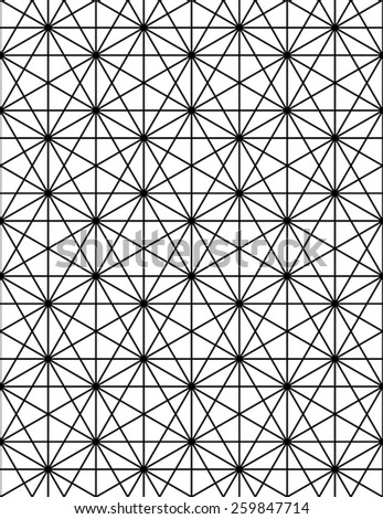Monochrome abstract textured geometric seamless pattern with geometric figures. Vector black and white textile backdrop. - stock vector