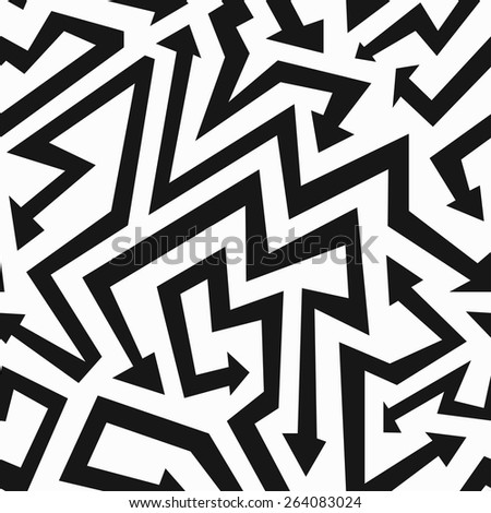 monochrome arrows seamless pattern