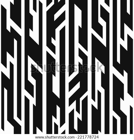 monochrome aztec geometric seamless pattern