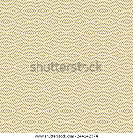 monochrome background or wallpaper pattern of gold rhombuses. can be tiled seamlessly. - stock vector