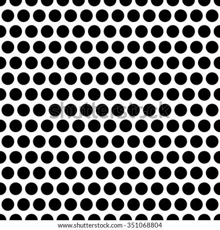 Monochrome circles seamless pattern.  - stock vector