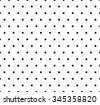 Monochrome dotted, polka dot pattern. Seamless vector. - stock vector