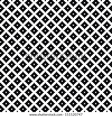 Monochrome elegant seamless pattern. Black and white pattern. Vector ornament.