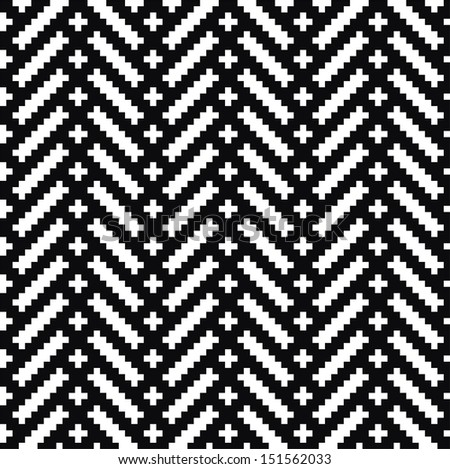 Monochrome elegant seamless pattern. Black and white pattern. Vector ornament. Belorussian traditional ornament.