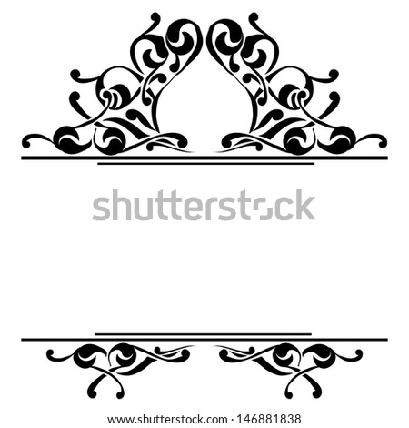 Monochrome element to design your text - stock vector