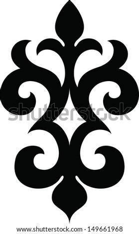 Monochrome ethnic pattern I - stock vector