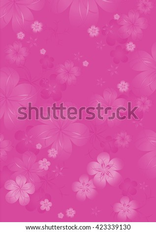 Monochrome Flowers background of pink crimson violet color . Flowers design. Vector abstract illustration.