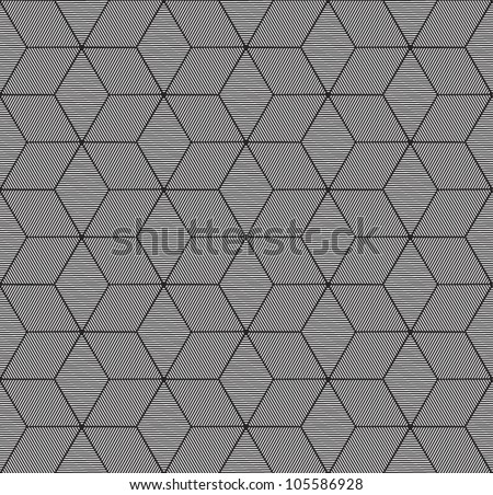 monochrome geometric seamless pattern - stock vector
