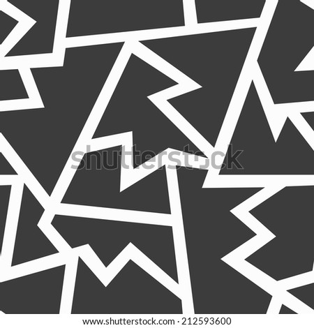 monochrome geometric seamless pattern - stock vector