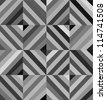 Monochrome geometric seamless pattern made of squares. - stock photo