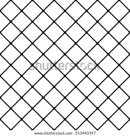 Monochrome grid, mesh background, seamless pattern. Vector.