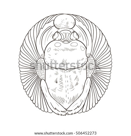 Egyptian wings stock images royalty free images vectors Coloring book for adults egypt