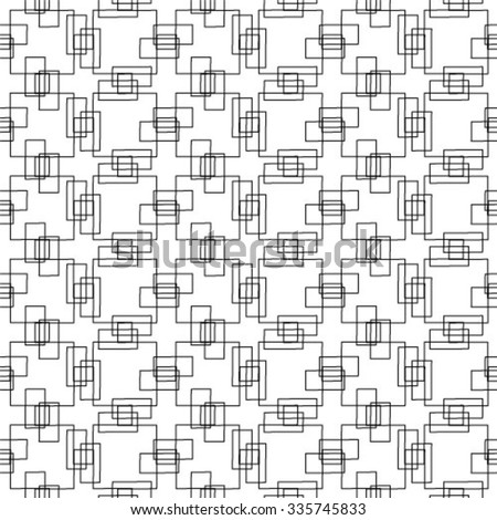 Monochrome ornament. Vector repeating texture. Seamless pattern.