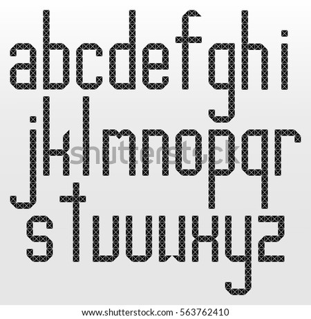 Jr triangle shapes alphabet letters font stock vector for Small room 4 letters