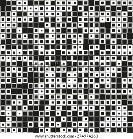 monochrome pattern with squares