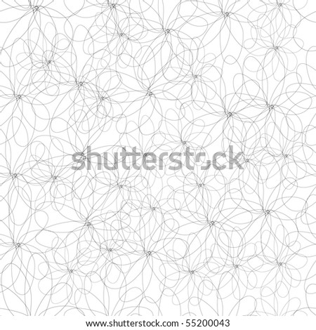 Monochrome seamless pattern - stock vector