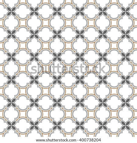 Monochrome seamless pattern islamic style . Abstract seamless ornament. Vector background - stock vector