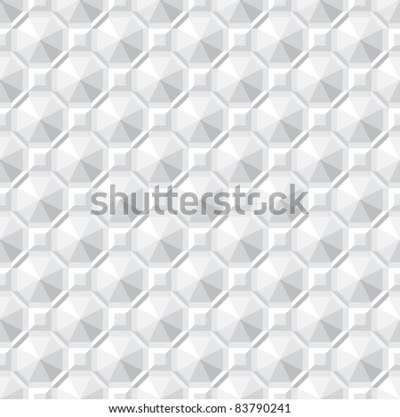 Monochrome seamless texture - square abstract pattern - stock vector