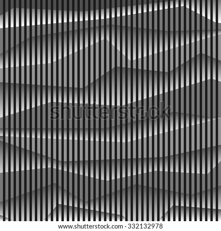Monochrome striped abstract background. Vector background - stock vector