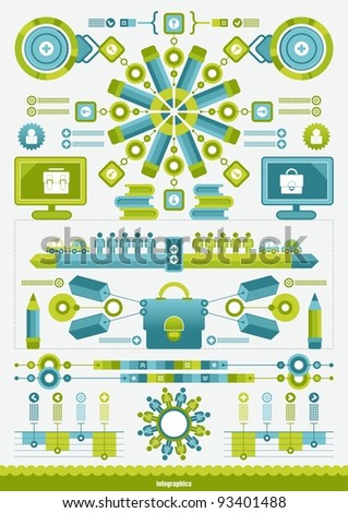 monochrome vector infographics - stock vector