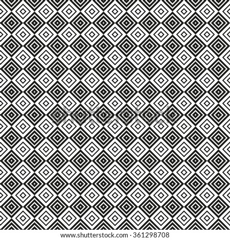 Monochrome vector seamless pattern. Endless texture can be used for wallpaper, pattern fills, web page background, surface textures. Geometric ornament.