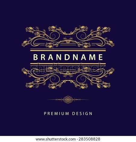 Monogram design elements, graceful template. Calligraphic elegant line art logo design.  Business sign for Royalty, Boutique, Cafe, Hotel, Heraldic, Jewelry, Wine. Vector illustration - stock vector