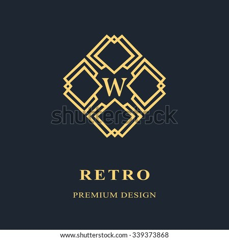 Monogram design elements, graceful template. Calligraphic Elegant line art logo design Letter emblem W identity for Restaurant, Royalty, Boutique, Cafe, Hotel, Heraldic, Jewelry, Fashion, Wine. Vector - stock vector