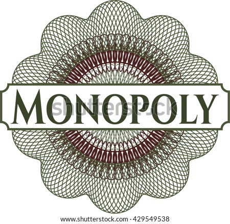 Monopoly rosette (money style emplem) - stock vector