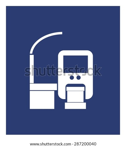 monorail simple icon - stock vector