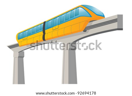 Monorail. Speed modern train - stock vector