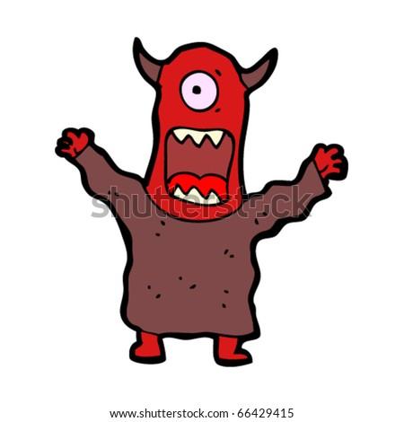 monster cartoon - stock vector