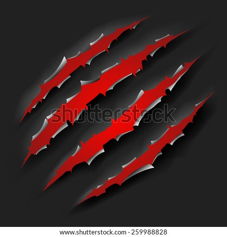 monster claw - stock vector