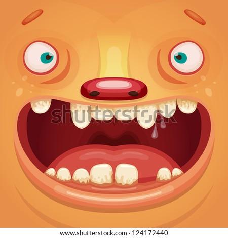 Monster Face - stock vector
