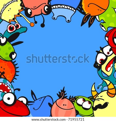 Monster frame - stock vector