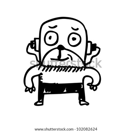 monster illustration - stock vector