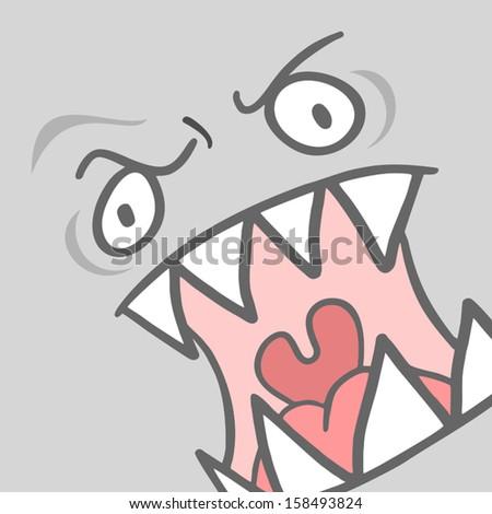 Vector Illustration Sad Cartoon Girl Crying Stock Vector