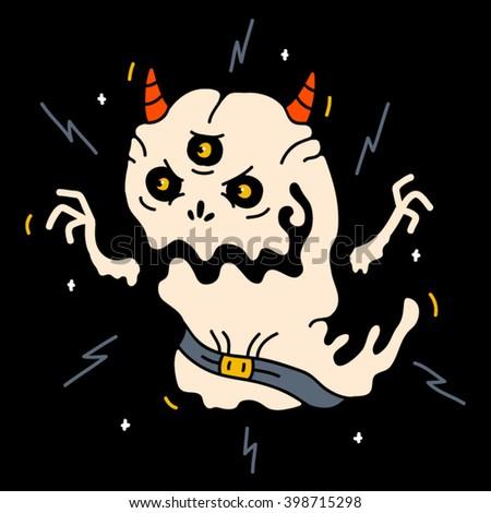 Monster, Monster funny, Monster illustration, Monster art, Monster halloween, Monster vector, Monster scary, Monster draw, Monster vector art, Monster cute, Monster design, Monster design art - stock vector