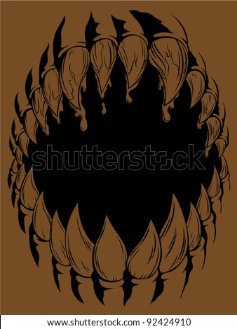 Monster Mouth - stock vector
