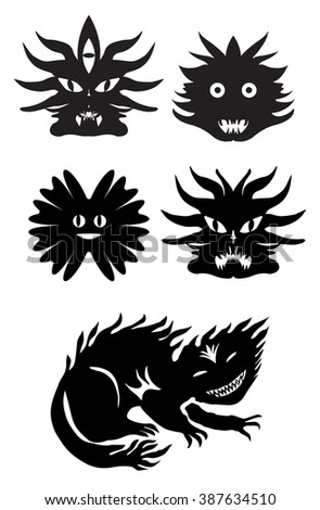 eyes animal form tribal tattoo stock vector 87652939 shutterstock. Black Bedroom Furniture Sets. Home Design Ideas
