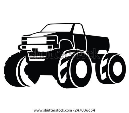 Monster Truck Vector - stock vector