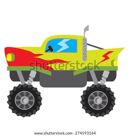 Monster truck vector illustration - stock vector