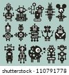 Monsters and robots collection #20. Vector illustration. - stock vector
